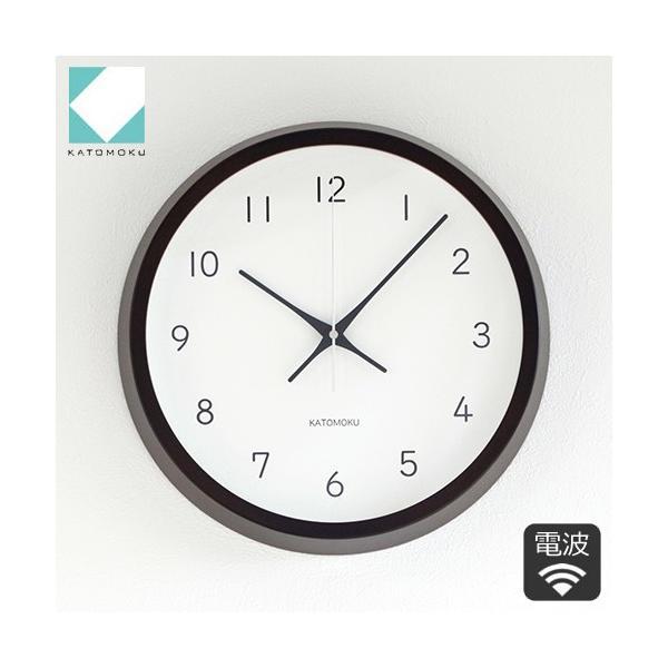 加藤木工 カトモク KATOMOKU muku round wall clock 13 ブラウン 電波時計 壁掛け スイープムーブメント KM-104BRRC favoritestyle