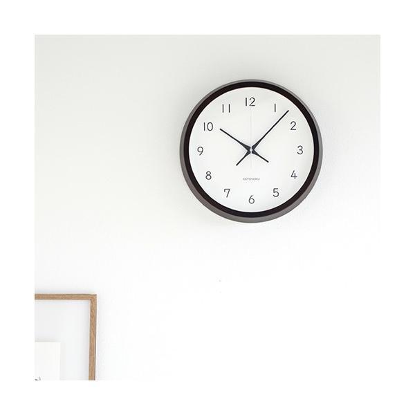加藤木工 カトモク KATOMOKU muku round wall clock 13 ブラウン 電波時計 壁掛け スイープムーブメント KM-104BRRC favoritestyle 02