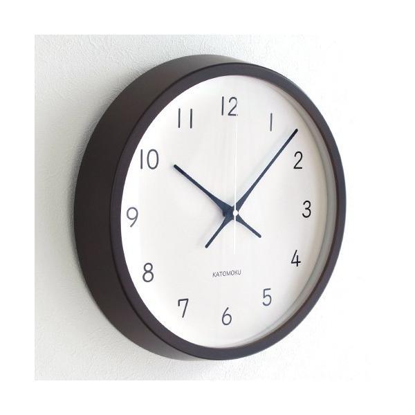 加藤木工 カトモク KATOMOKU muku round wall clock 13 ブラウン 電波時計 壁掛け スイープムーブメント KM-104BRRC favoritestyle 03