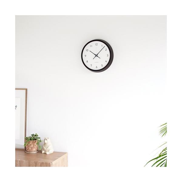 加藤木工 カトモク KATOMOKU muku round wall clock 13 ブラウン 電波時計 壁掛け スイープムーブメント KM-104BRRC favoritestyle 05