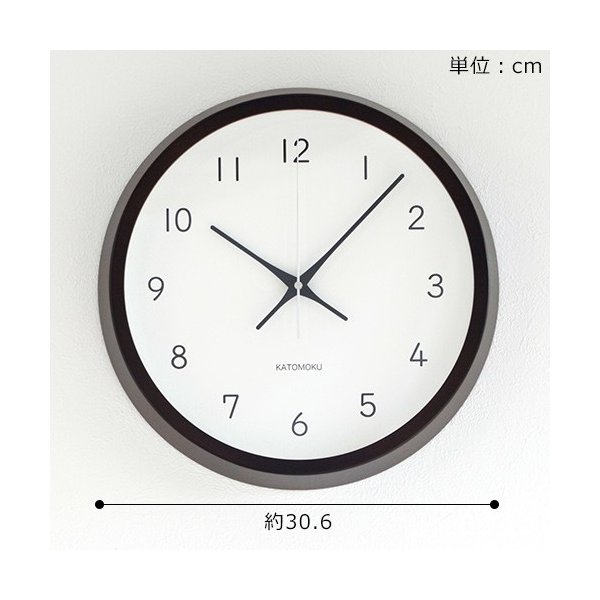 加藤木工 カトモク KATOMOKU muku round wall clock 13 ブラウン 電波時計 壁掛け スイープムーブメント KM-104BRRC favoritestyle 06