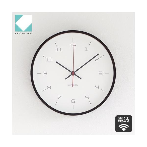 加藤木工 カトモク KATOMOKU plywood wall clock 16 ブラウン 掛時計 壁掛け スイープムーブメント 連続秒針 電波時計 KM-105BRRC|favoritestyle