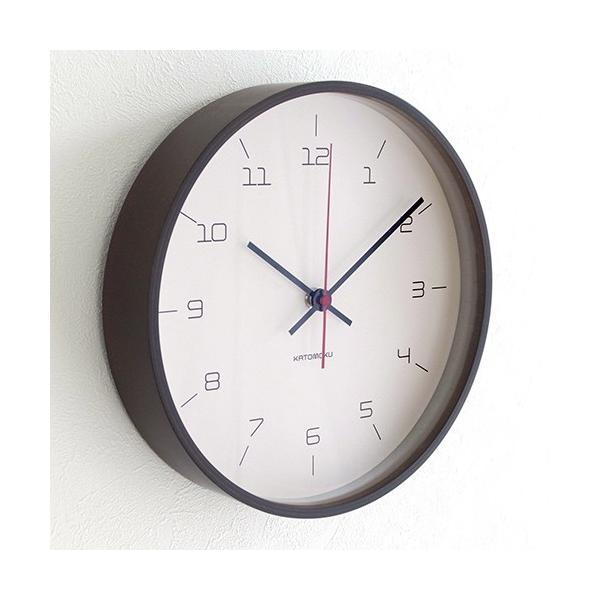 加藤木工 カトモク KATOMOKU plywood wall clock 16 ブラウン 掛時計 壁掛け スイープムーブメント 連続秒針 電波時計 KM-105BRRC|favoritestyle|03