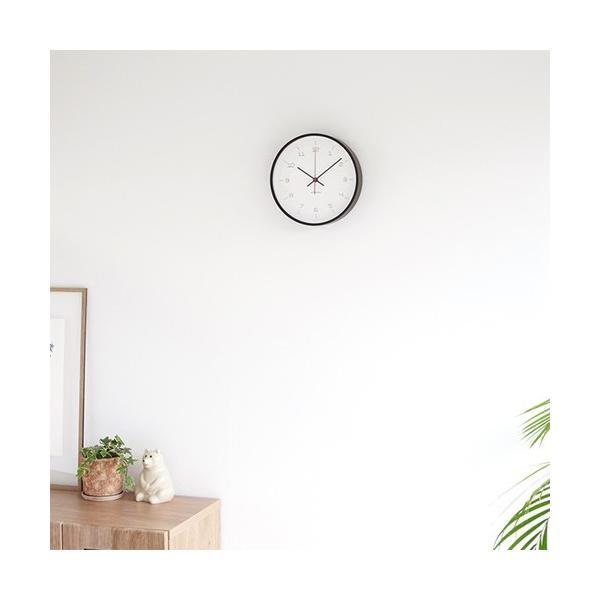 加藤木工 カトモク KATOMOKU plywood wall clock 16 ブラウン 掛時計 壁掛け スイープムーブメント 連続秒針 電波時計 KM-105BRRC|favoritestyle|05