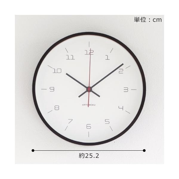 加藤木工 カトモク KATOMOKU plywood wall clock 16 ブラウン 掛時計 壁掛け スイープムーブメント 連続秒針 電波時計 KM-105BRRC|favoritestyle|06