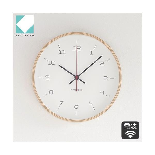 加藤木工 カトモク KATOMOKU plywood wall clock 16 ナチュラル 掛時計 壁掛け スイープムーブメント 連続秒針 電波時計 KM-105NARC|favoritestyle
