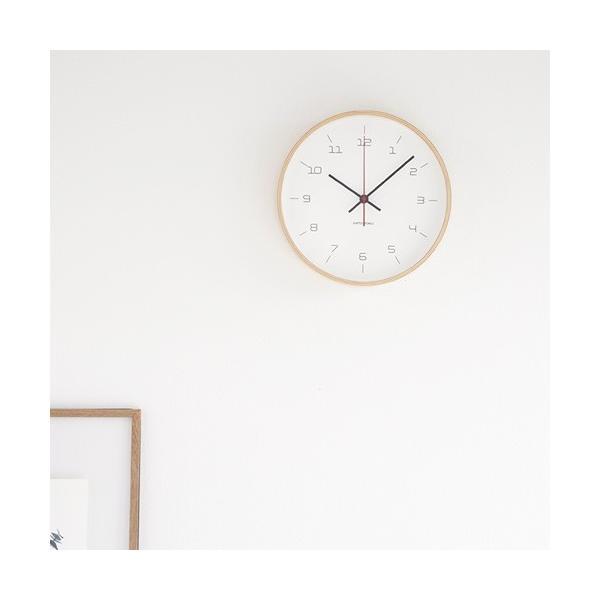 加藤木工 カトモク KATOMOKU plywood wall clock 16 ナチュラル 掛時計 壁掛け スイープムーブメント 連続秒針 電波時計 KM-105NARC|favoritestyle|02