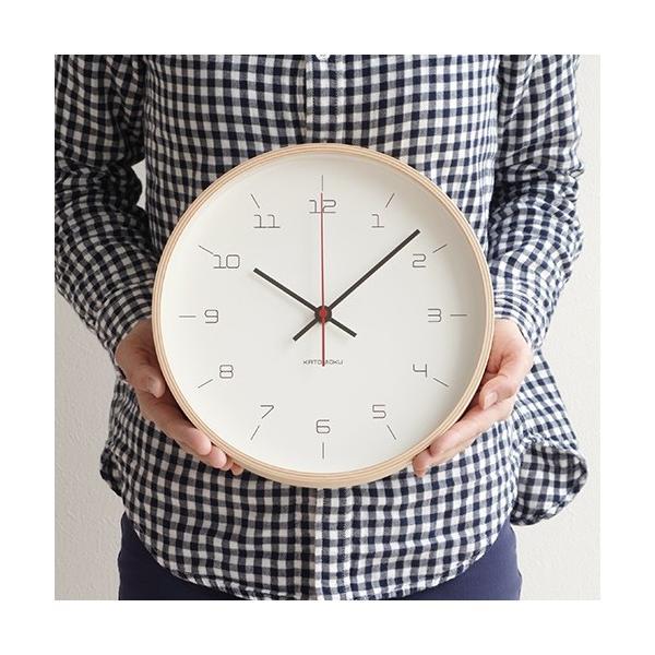 加藤木工 カトモク KATOMOKU plywood wall clock 16 ナチュラル 掛時計 壁掛け スイープムーブメント 連続秒針 電波時計 KM-105NARC|favoritestyle|04