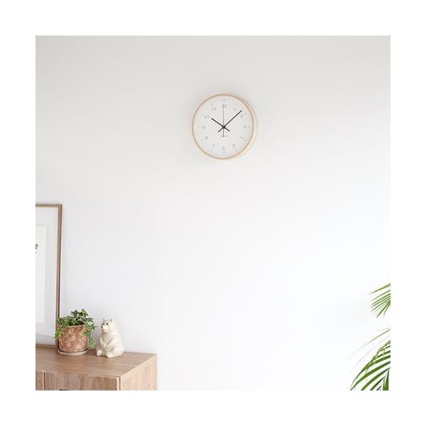 加藤木工 カトモク KATOMOKU plywood wall clock 16 ナチュラル 掛時計 壁掛け スイープムーブメント 連続秒針 電波時計 KM-105NARC|favoritestyle|05