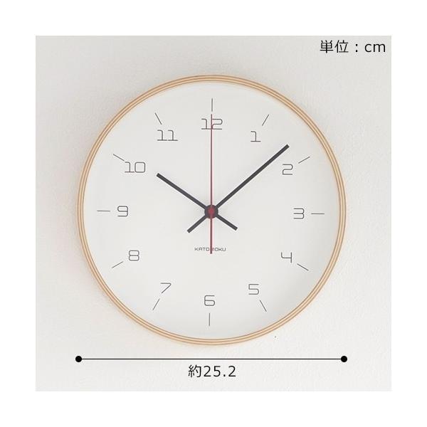 加藤木工 カトモク KATOMOKU plywood wall clock 16 ナチュラル 掛時計 壁掛け スイープムーブメント 連続秒針 電波時計 KM-105NARC|favoritestyle|06