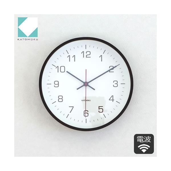 壁掛け時計 電波時計 木製 日本製 加藤木工 カトモク Plywood wall clock 4 スイープムーブメント ブラウン 曲木時計 KATOMOKU KM-44BRC|favoritestyle