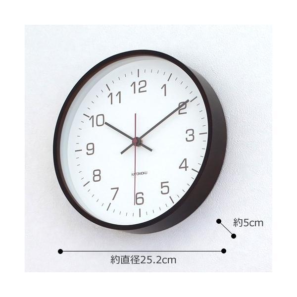 壁掛け時計 電波時計 木製 日本製 加藤木工 カトモク Plywood wall clock 4 スイープムーブメント ブラウン 曲木時計 KATOMOKU KM-44BRC|favoritestyle|02
