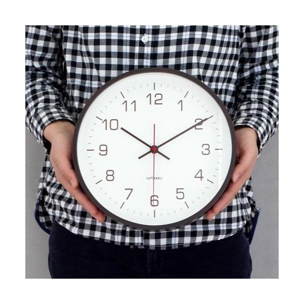 壁掛け時計 電波時計 木製 日本製 加藤木工 カトモク Plywood wall clock 4 スイープムーブメント ブラウン 曲木時計 KATOMOKU KM-44BRC|favoritestyle|03