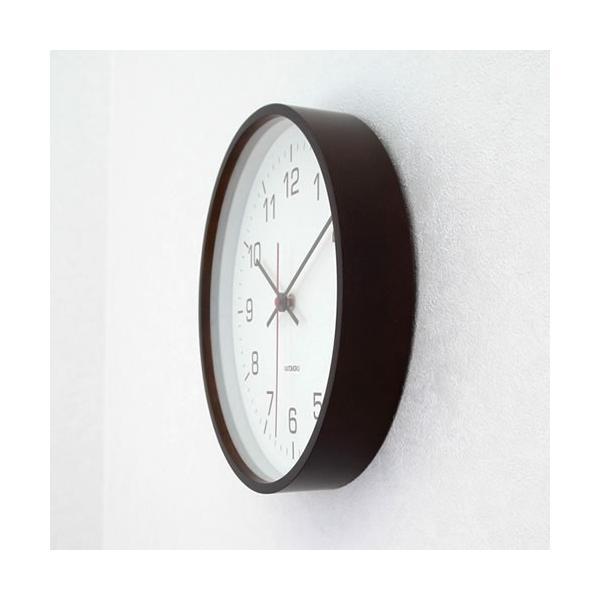 壁掛け時計 電波時計 木製 日本製 加藤木工 カトモク Plywood wall clock 4 スイープムーブメント ブラウン 曲木時計 KATOMOKU KM-44BRC|favoritestyle|04