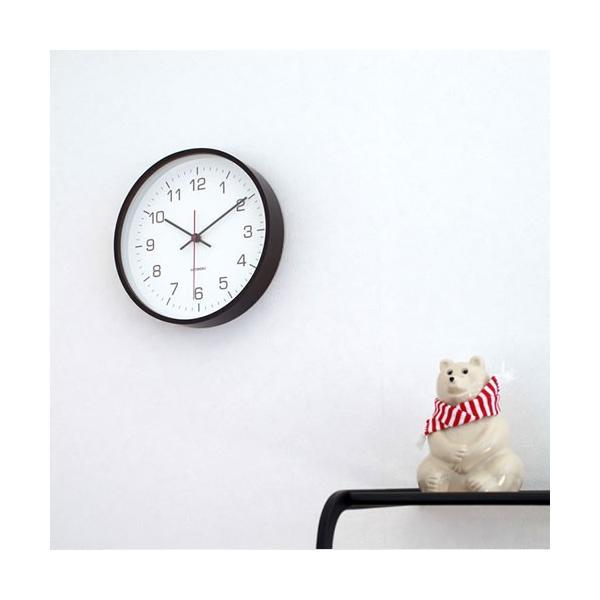壁掛け時計 電波時計 木製 日本製 加藤木工 カトモク Plywood wall clock 4 スイープムーブメント ブラウン 曲木時計 KATOMOKU KM-44BRC|favoritestyle|05