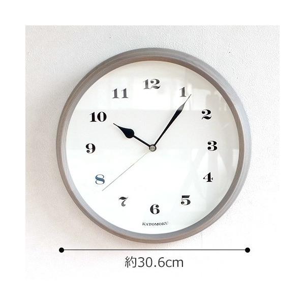 壁掛け時計 電波時計 木製 日本製 加藤木工 KATOMOKU カトモク 連続秒針 muku round wall clock 3 グレー 曲木時計 KM-54GRC favoritestyle 02