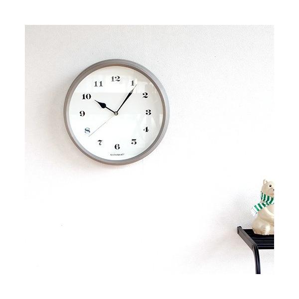壁掛け時計 電波時計 木製 日本製 加藤木工 KATOMOKU カトモク 連続秒針 muku round wall clock 3 グレー 曲木時計 KM-54GRC favoritestyle 03