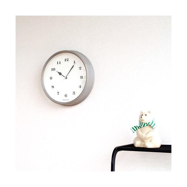 壁掛け時計 電波時計 木製 日本製 加藤木工 KATOMOKU カトモク 連続秒針 muku round wall clock 3 グレー 曲木時計 KM-54GRC favoritestyle 06