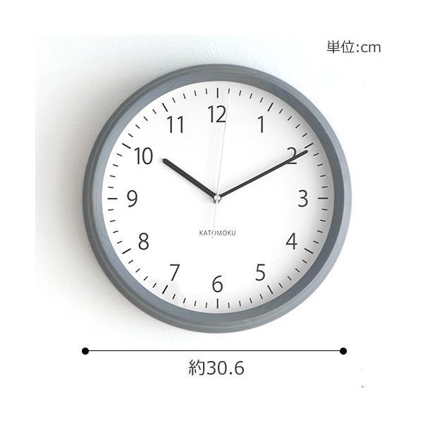 壁掛け時計 電波時計 木製 日本製 加藤木工 KATOMOKU カトモク 連続秒針 muku round wall clock 4 グレー KM-57GRC|favoritestyle|06