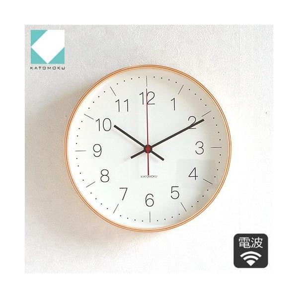 壁掛け時計 電波時計 木製 日本製 加藤木工 KATOMOKU カトモク 連続秒針 plywood wall clock 9 ナチュラル 曲木時計 KM-75NRC|favoritestyle