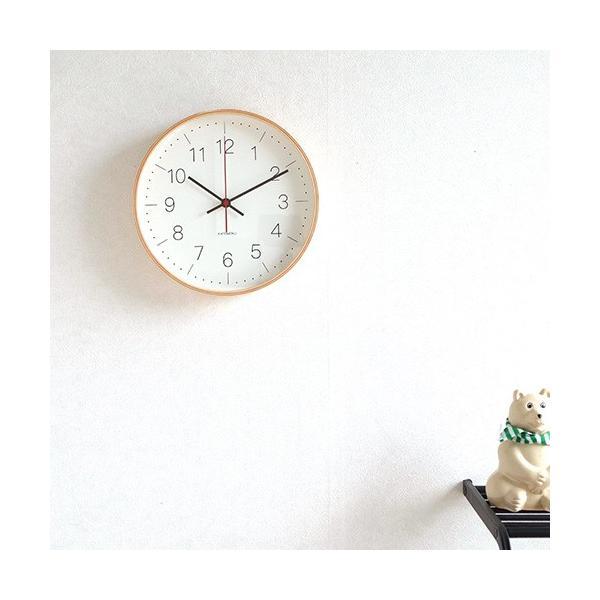 壁掛け時計 電波時計 木製 日本製 加藤木工 KATOMOKU カトモク 連続秒針 plywood wall clock 9 ナチュラル 曲木時計 KM-75NRC|favoritestyle|02
