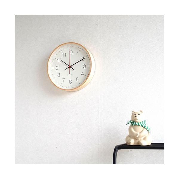 壁掛け時計 電波時計 木製 日本製 加藤木工 KATOMOKU カトモク 連続秒針 plywood wall clock 9 ナチュラル 曲木時計 KM-75NRC|favoritestyle|05