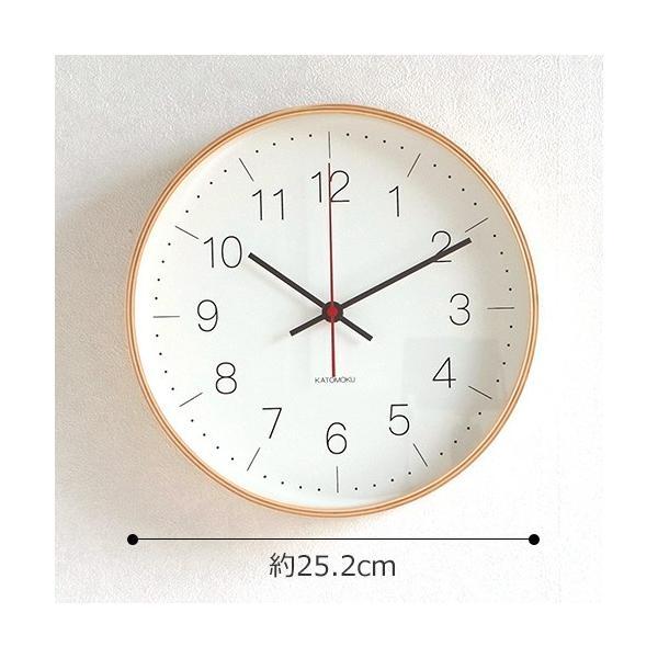 壁掛け時計 電波時計 木製 日本製 加藤木工 KATOMOKU カトモク 連続秒針 plywood wall clock 9 ナチュラル 曲木時計 KM-75NRC|favoritestyle|06