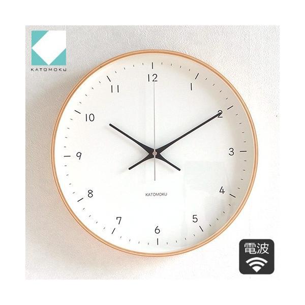 壁掛け時計 電波時計 木製 日本製 加藤木工 KATOMOKU カトモク 連続秒針 plywood wall clock 12 ナチュラル 曲木時計 KM-80NRC favoritestyle