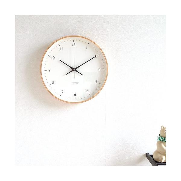 壁掛け時計 電波時計 木製 日本製 加藤木工 KATOMOKU カトモク 連続秒針 plywood wall clock 12 ナチュラル 曲木時計 KM-80NRC favoritestyle 02