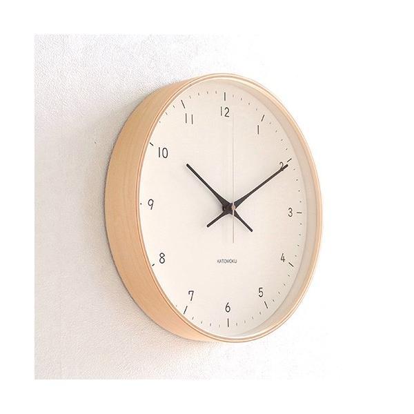 壁掛け時計 電波時計 木製 日本製 加藤木工 KATOMOKU カトモク 連続秒針 plywood wall clock 12 ナチュラル 曲木時計 KM-80NRC favoritestyle 03