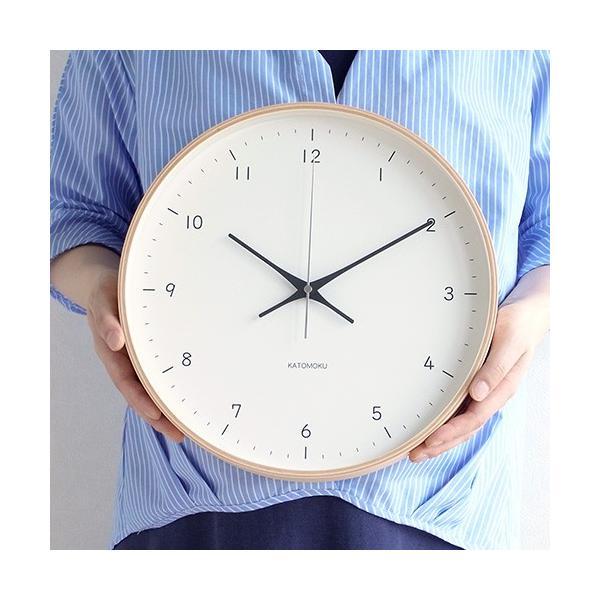 壁掛け時計 電波時計 木製 日本製 加藤木工 KATOMOKU カトモク 連続秒針 plywood wall clock 12 ナチュラル 曲木時計 KM-80NRC favoritestyle 04