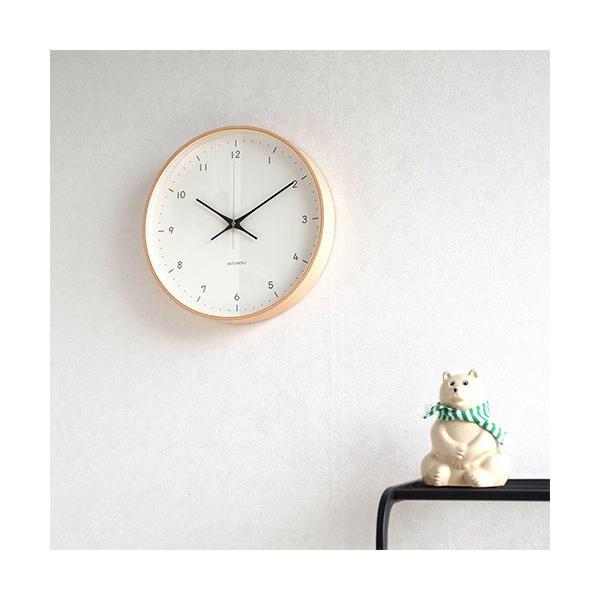 壁掛け時計 電波時計 木製 日本製 加藤木工 KATOMOKU カトモク 連続秒針 plywood wall clock 12 ナチュラル 曲木時計 KM-80NRC favoritestyle 05