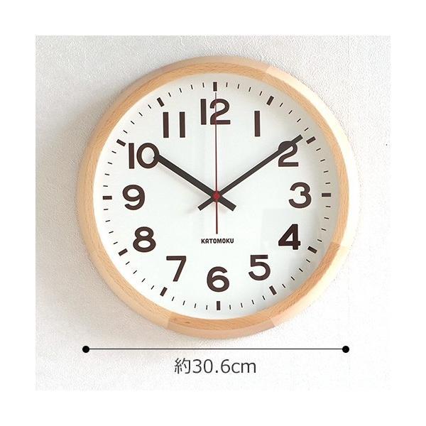 壁掛け時計 電波時計 木製 日本製 加藤木工 KATOMOKU カトモク 連続秒針 muku round wall clock 10 ナチュラル KM-86NRC|favoritestyle|06
