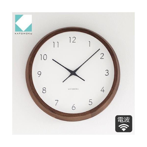 加藤木工 カトモク KATOMOKU muku round wall clock 7 ウォールナット 電波時計 壁掛け スイープムーブメント KM-93RC|favoritestyle