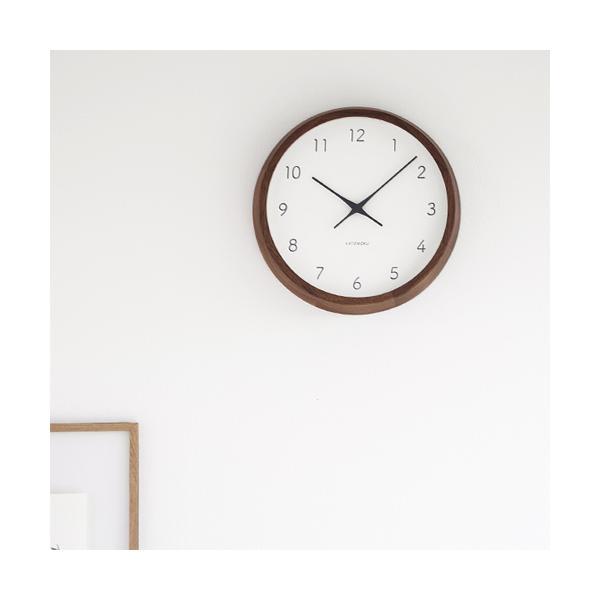 加藤木工 カトモク KATOMOKU muku round wall clock 7 ウォールナット 電波時計 壁掛け スイープムーブメント KM-93RC|favoritestyle|02
