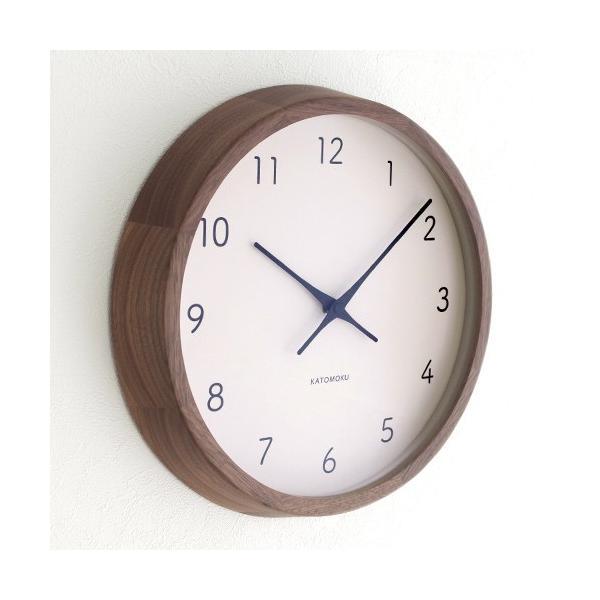 加藤木工 カトモク KATOMOKU muku round wall clock 7 ウォールナット 電波時計 壁掛け スイープムーブメント KM-93RC|favoritestyle|03