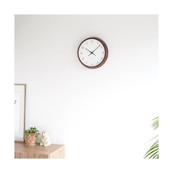 加藤木工 カトモク KATOMOKU muku round wall clock 7 ウォールナット 電波時計 壁掛け スイープムーブメント KM-93RC|favoritestyle|05