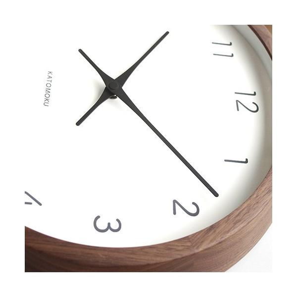 加藤木工 カトモク KATOMOKU muku round wall clock 7 ウォールナット 電波時計 壁掛け スイープムーブメント KM-93RC|favoritestyle|07
