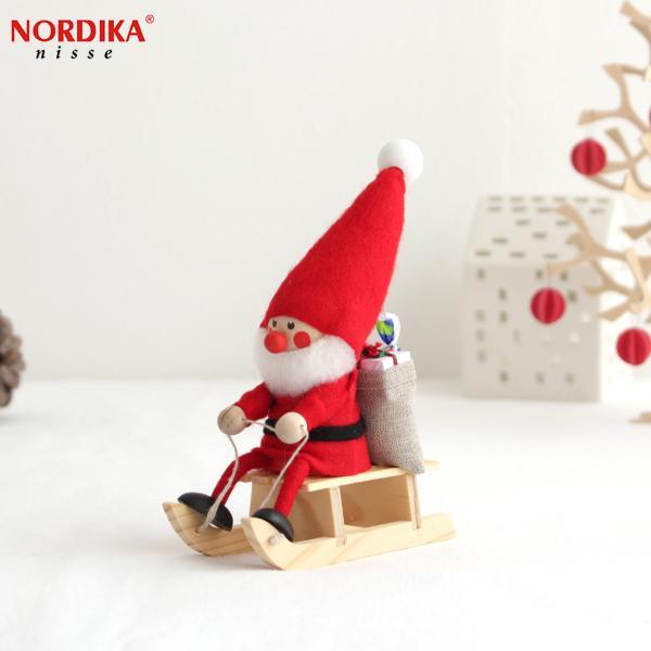 [今季販売終了] ノルディカニッセ そりに乗ったサンタ NORDIKA nisse クリスマス クリスマス雑貨 木製人形 人形 北欧 北欧雑貨 北欧インテリア NRD120072