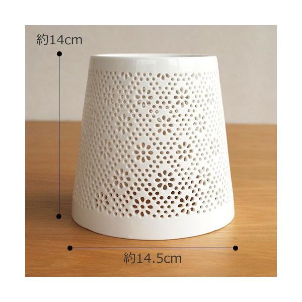 AXCIS アクシス 陶器 シェード フラワーレース 花柄 ランプシェード タイプC 照明 ランプ 白 ホワイト favoritestyle 02