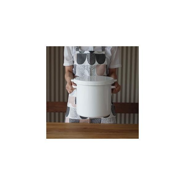 野田琺瑯 ノダホーロー ラウンドストッカー 米びつ 24cm  シール蓋 ホワイトシリーズ 漬物作り 大容量タイプ 日本製|favoritestyle|04