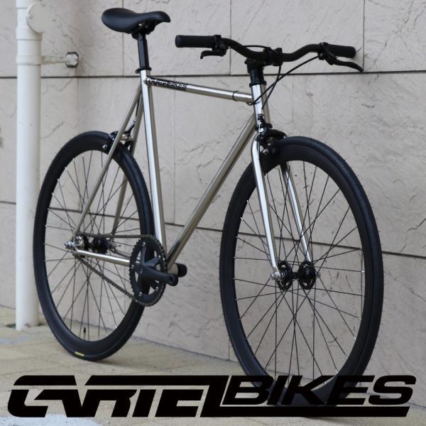 ピストバイク 完成車 CARTEL BIKES AVENUE LO CHROME PISTBIKE カーテルバイク アベニュー ロー クローム ライザーバーカスタム 自転車 ロードバイク ブランド|favus