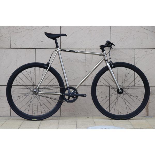 ピストバイク 完成車 CARTEL BIKES AVENUE LO CHROME PISTBIKE カーテルバイク アベニュー ロー クローム ライザーバーカスタム 自転車 ロードバイク ブランド|favus|02