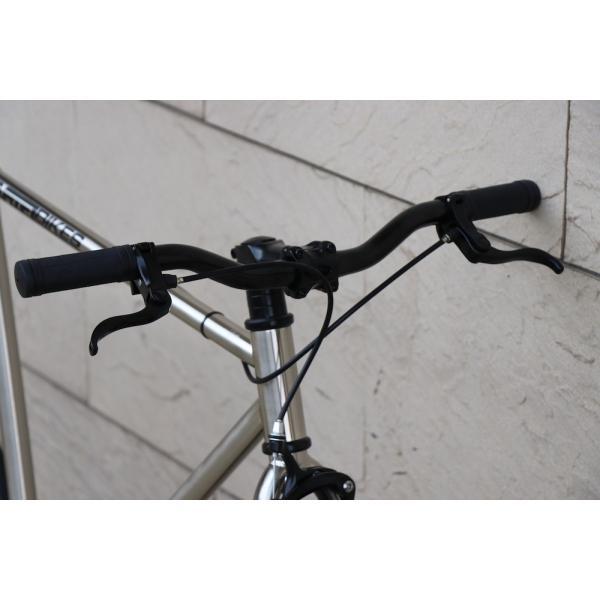ピストバイク 完成車 CARTEL BIKES AVENUE LO CHROME PISTBIKE カーテルバイク アベニュー ロー クローム ライザーバーカスタム 自転車 ロードバイク ブランド|favus|04