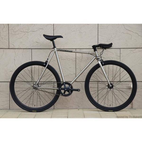 ピストバイク 完成車 CARTEL BIKES AVENUE LO CHROME PISTBIKE カーテルバイク アベニュー クローム 銀 シルバー 自転車 ロードバイク ブランド|favus|02