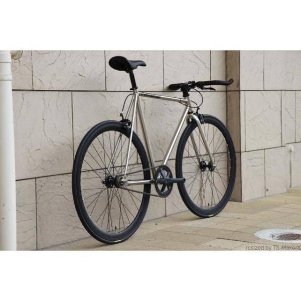 ピストバイク 完成車 CARTEL BIKES AVENUE LO CHROME PISTBIKE カーテルバイク アベニュー クローム 銀 シルバー 自転車 ロードバイク ブランド|favus|03
