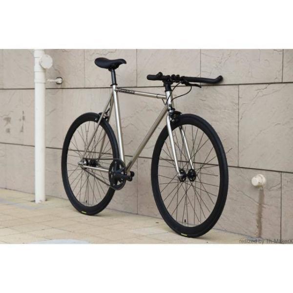 ピストバイク 完成車 CARTEL BIKES AVENUE LO CHROME PISTBIKE カーテルバイク アベニュー クローム 銀 シルバー 自転車 ロードバイク ブランド|favus|04