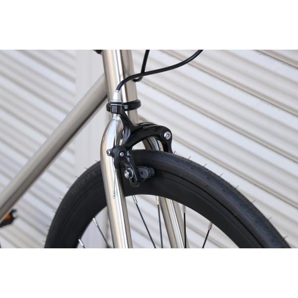 ピストバイク 完成車 CARTEL BIKES AVENUE LO CHROME PISTBIKE カーテルバイク アベニュー クローム 銀 シルバー 自転車 ロードバイク ブランド|favus|05