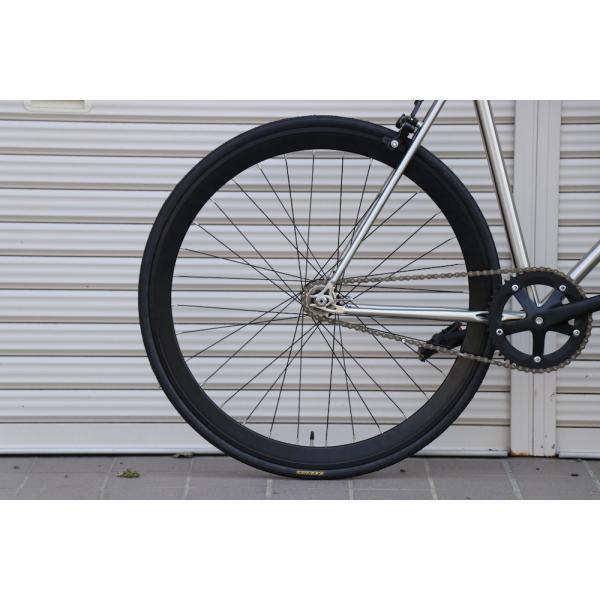 ピストバイク 完成車 CARTEL BIKES AVENUE LO CHROME PISTBIKE カーテルバイク アベニュー クローム 銀 シルバー 自転車 ロードバイク ブランド|favus|06