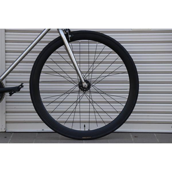 ピストバイク 完成車 CARTEL BIKES AVENUE LO CHROME PISTBIKE カーテルバイク アベニュー クローム 銀 シルバー 自転車 ロードバイク ブランド|favus|07